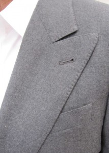 pick stitched lapel